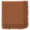 SET OF 2 SEQUOIA BROWN NAPKINS WITH LONG FRINGES