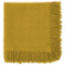 SET OF 2 YELLOW NAPKINS WITH LONG FRINGES