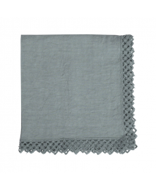 Once Milano Sage Green Linen Napkin with Macramé