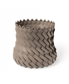 ALMERIA MEDIUM WOVEN BASKET IN TAUPE