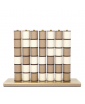 Pinetti Connect 4 Table Game in Taupe & White Leather Finish