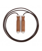 SIENNA Luxury Skipping Rope In Natural Walnut & Stainless Steel Finish