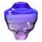 AQUA BLUE AND SUBTLE PINK GLASS VASE