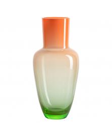 Orange & Green Glass Vase by Frantisek Jungvirt, Garden Spring Collection, Limited Edition