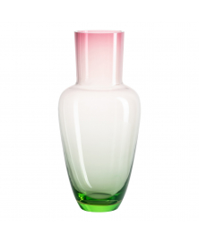 Pink Green Gradient Glass Vase by Frantisek Jungvirt, Spring Collection