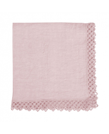 Once Milano Pale Pink Linen Napkin with Macramé