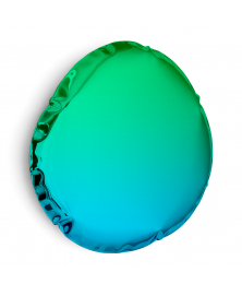Gradient Blue-Green TAFLA O6 Mirror from The Gradient Collection by Oskar Zieta