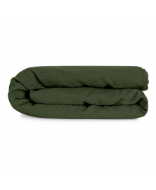 Green Linen Duvet Cover from Once Milano