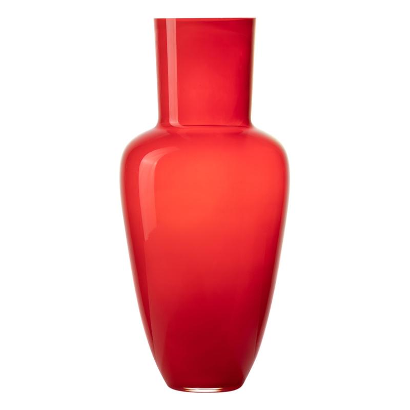 Frantisek Jungvirt Bright Cherry Red Vase, Garden Collection