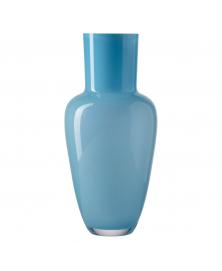 Frantisek Jungvirt Light Blue Glass  Vase, Garden Collection