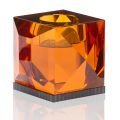 OPHELIA AMBER TEALIGHT HOLDER
